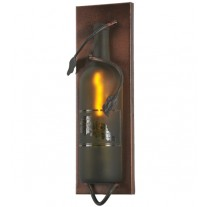 99641 Tuscan Etched Grapes Wine Bottle Pocket Wall Sconce