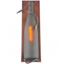 99644 Tuscan Vineyard Frosted Amber Wine Bottle