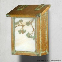 Ginkgo Tree Vertical Design America's Finest Mailboxes