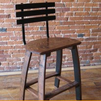 The Oak Barrel Company Wine Barrel Head Bar Stools