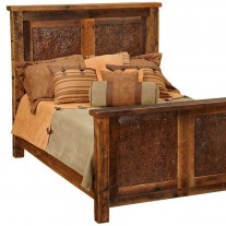Barnwood Copper Inset Bed Fireside Lodge