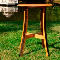 Cafe Table by The Oak Barrel Company