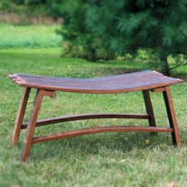 Wine Stave Cuddle Bench by The Oak Barrel Company