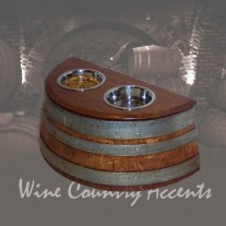 Wine Barrel Dog Food Dish by Wine Barrel Creations