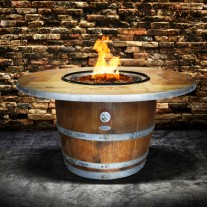 Wine Barrel Fire Pit Enthusiast VINTAGE TOP Vin De Flame