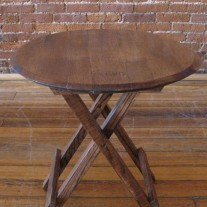 Folding Barrel Head Table by The Oak Barrel Company