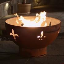 Fleur De Lis Gas Fire Pit Art