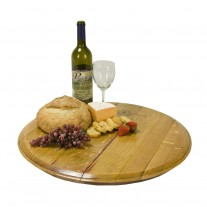 Wine Barrel Head Lazy Susan Napa East