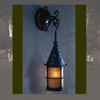 LF300B Cottage LARGE Wall Pendant Vintage Iron by Mica Lamps