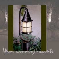 "LF301P-BZ LARGE Cottage ""C"" Arm Post Lantern Bronzed by Mica Lamps"