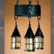 LF202 Cottage 3 Lantern Chandelier by Mica Lamps