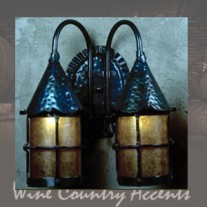 LF201D Double Cottage Lantern SMALL Vintage Iron by Mica Lamps Company