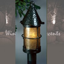 LF301-Q-BZ Large Bronzed Cottage Post Mica Lamps