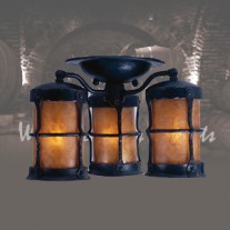 LF407 Griffith Ceiling 3 Lantern by Mica Lamps