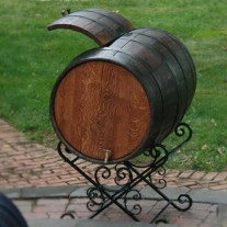 Wine Barrel Oak Ice Box by The Oak Barrel Company