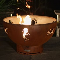 Kokopelli Gas Fire Pit Art