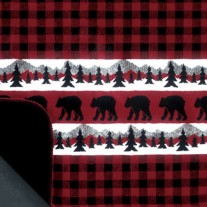Bear Plaid Border by Denali