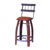 Wine Barrel Stave Bar Stools With Backs by 2 Day Designs