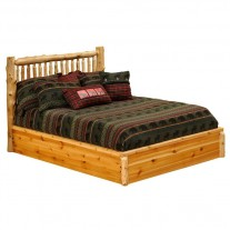 Fireside Lodge Small Spindle Log Platform Bed