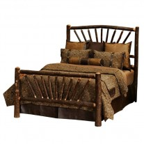 Fireside Lodge Hickory Sunburst Bed