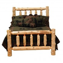Traditional Cedar Log Bed Fireside Lodge