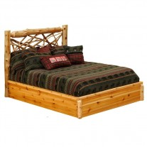 Fireside Lodge Twig Log Platform Bed