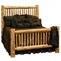 Fireside Lodge Small Spindle Log Bed