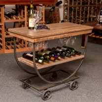 Vintage Industrial Wine Rack Cart Napa East