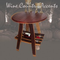 150 Barrel Bistro Table Wine & Glass Rack Wine Barrel Creations