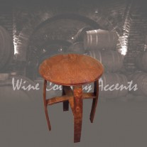 152 Wine Barrel Side Table by Wine Barrel Creations