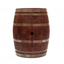 """Wine Barrel Vanity with 17"""" Oval Copper Sink"""
