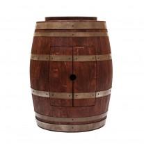"Wine Barrel Vanity 17"" Oval Skirted Vessel Copper Sink"