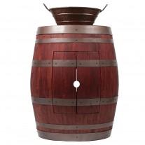 """Wine Barrel Vanity 16"""" Oval Bucket Vessel Sink with Handles"""