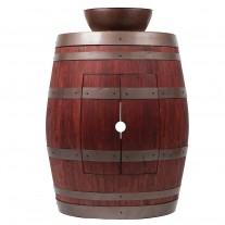"Wine Barrel Vanity Package with 13"" Round Vessel Sink"