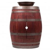 """Wine Barrel Vanity 15"""" Round Wired Rim Vessel Sink"""