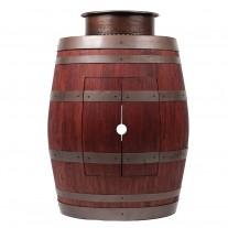"Round Vessel Tub Sink  15"" Wine Barrel Vanity"