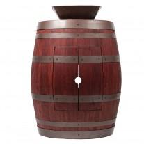 "Square Vessel Sink 14"" Wine Barrel Vanity"