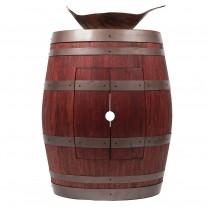 Leaf Vessel Hammered Copper Sink Wine Barrel Vanity