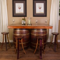 Wine Barrel Bar Island Set Napa East Collection