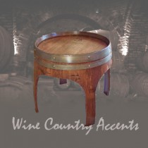154 Wine Barrel Arched End Table