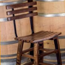 Wine Stave Backed Bar Stools