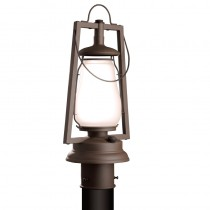 Sutter's Mill Lantern 752-S-3 49er Series Post Mount Rustic Lantern