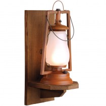 49er Wood Wall Mount Rustic Lantern