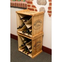 Personalized Wine Crate Rack Napa East