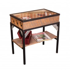 Glass Top End Table Wine Rack