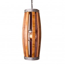 Hoop and Stave Long Pendant