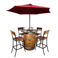 Sonoma Wine Barrel Outdoor Patio Set Napa