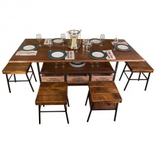 Vino Vintage Farm Table Set