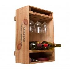 Wine Crate Combo Glass & Bottle Rack Napa East