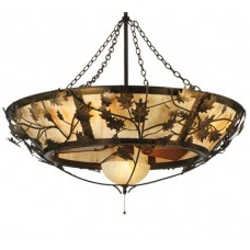 "110043 50""W Oak Branch W/Fan Light Chandel-Air"